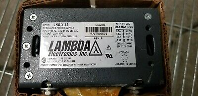 Lambda Lns-x-12 Regulated Power Supply 12vdc -5 Variable Vac Input New