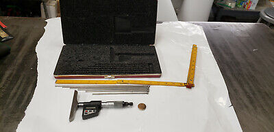 Starrett 749bz-6rl 0-6 Interchangeable Depth Micrometer Gage Wcase Etchings