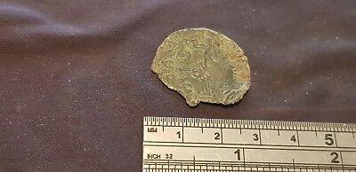 Nice unusual unresearched Medieval bronze Jetton. Please Read Description. L117d