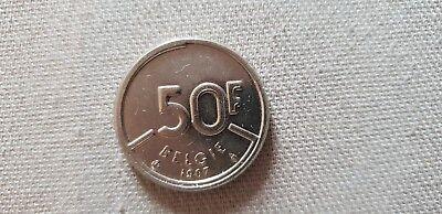 VL 50 frank 1987 Belgïe Boudewijn (50 francs Baudouin Belgique en néerlandais)
