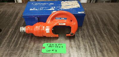 Thomas Betts Tbm15pf 15-ton Insulated Remote Hydraulic Crimp Head Wbox Lot3