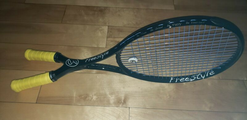 Battistone Freestyle Two Handle Tennis Racquet - Unique - Sells For $220