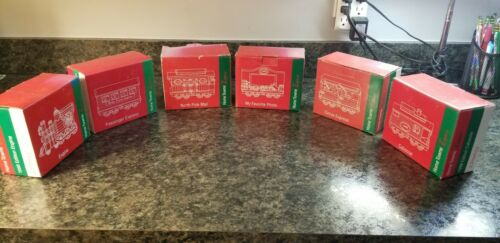 Vintage JCPenney 1998 Home Towne Express 6 Piece Christmas Train Set IOB