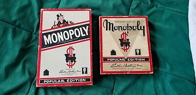 3 sets of Rare Vintage Monopoly Games, Assorted pieces, one set  has board