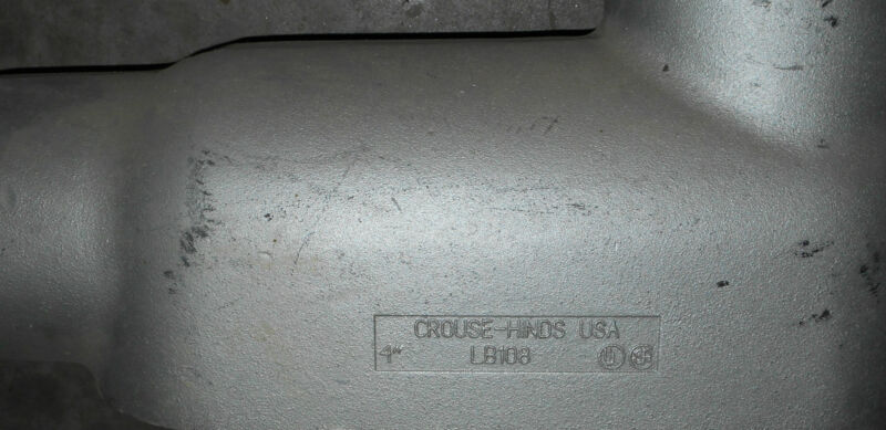 "Crouse Hinds #LB108, 4"" LBs, Form 8, Mallabelle iron, New"
