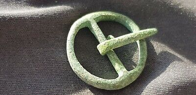 Beautiful intact little bronze annular Medieval buckle found in England. L84p