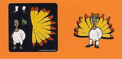 75 Make Your Own Thanksgiving Turkey Stickers - Party Favors - Rewards