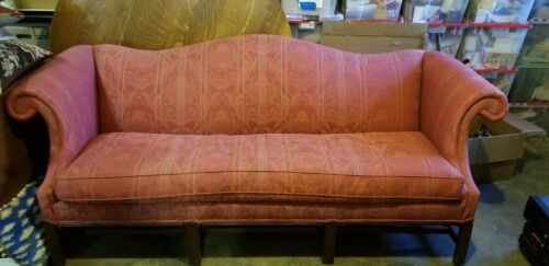 HICKORY CHAIR Mahogany Chippendale Camelback Sofa