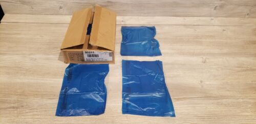 Blue High-Density Plastic Merchandise Bags 6.25 x 9.25 Inches - Lot of 1000