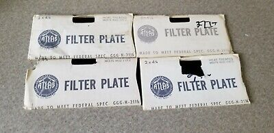 4 Vintage Atlas Welding Lens Filter Plates 2 X 4-14 Shade 14 Nos