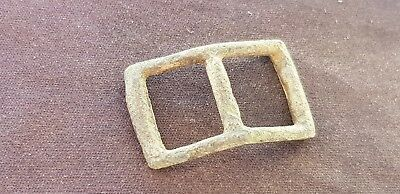 Nice Post Medieval copper alloy buckle. Please read description. L83y