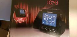 Magnasonic MAG-MM176K AM/FM Projection Clock Radio Dual Alarm self set