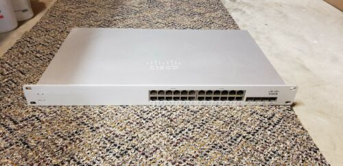 Cisco Meraki 24 Port POE Cloud Managed Switch MS220-24P *Claimed*