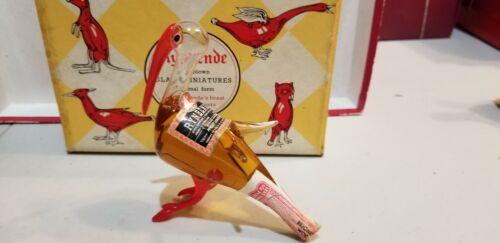 Vintage Rynbende Pelikan RARE Hand Blown Glass Bottle In Original Box Dutch