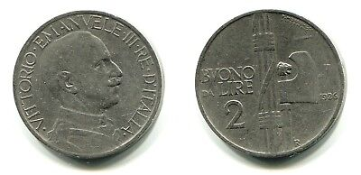 2 Lire Italien 1926R Nickel