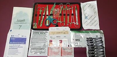 32-pcs Student Suture Surgicalminor Surgery Kit Military Stylefirst Aid Kit