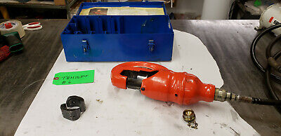 Thomas Betts Tbm15pf 15-ton Insulated Remote Hydraulic Crimp Head Wbox Lot6