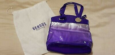 Purple and Silver Versus Versace Fragrance bag