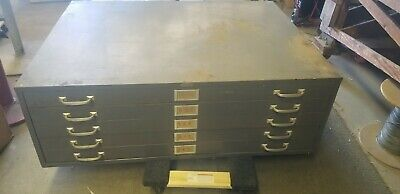 Cole Steel Brand 5 Drawer Blueprint Files Cabinet Made In Usa