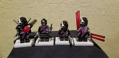 Lego Ninjago lot of 4 Nindroid Army - General Cryptor,Warrior,Drone,Mindroid