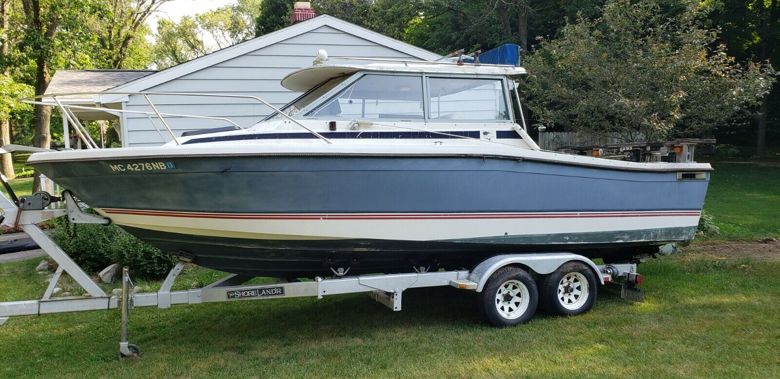 1986 Bayliner 24' Cuddy Cabin & Trailer - Michigan