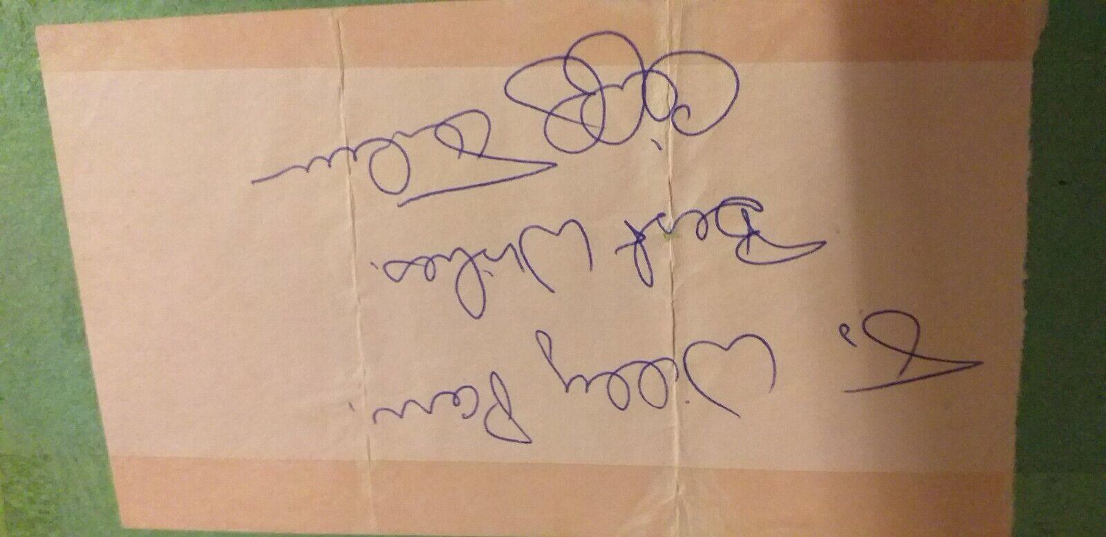cliff thorburn autograph