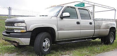 2001 chevy silverado duramax 3500 dually 4x4 1 ton 6 6 turbo diesel crew cab used chevrolet. Black Bedroom Furniture Sets. Home Design Ideas
