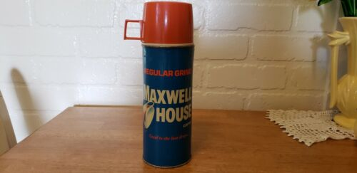 VINTAGE MAXWELL HOUSE METAL THERMOS COMPLETE
