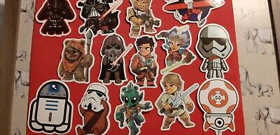 Star wars Wall Stickers cartoon 50 pack no doubles