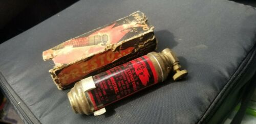 Antique Brass Presto CB Small Motorcycle Fire Extinguisher