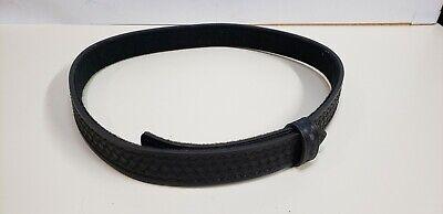 """26/"""" G/&G Black Leather BUCKLELESS 2.25/"""" Hook//Loop Police Duty Belt Size XS 22/"""""""