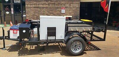 Mobile Food Cart Restaurant On Wheels Business Road Runner Bbq Smoker Trailer