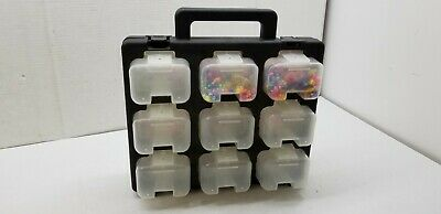 Jefcom Storage Container Carry Case Divided Compartment Beads Jewelry Craft Jtpb