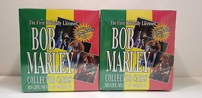 2 box of 1995 Bob Marley Music Collector Trading Card 36 Unopened  Pack Box