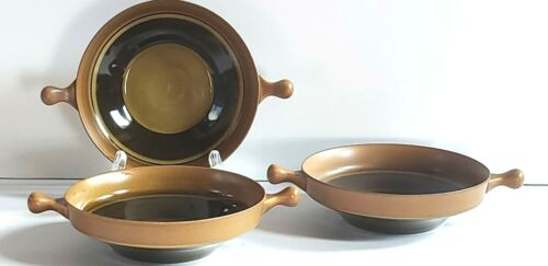 GOEBEL W Germany COUNTRY BRETAGNE Lugged Soup Bowls Lot of 3