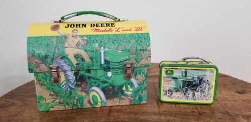 John Deere Tractor Tin Small and Mini Lunch Boxes The Tin Box Company