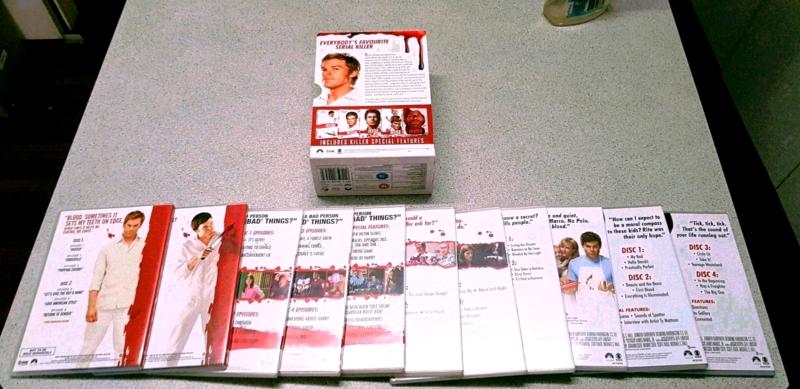 DEXTER COMPLETE SEASONS SERIES 1, 2, 3, 4 & 5 DVD BOX SET
