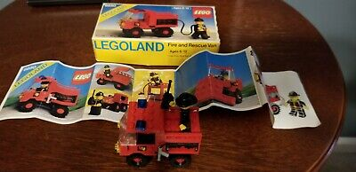 Vintage Lego 6650 Town FIRE AND RESCUE VAN Complete w/box & Instructions