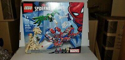 LEGO 76114 Spiderman's Spider Crawler 418 Piece Set Villan Sandman New In Box