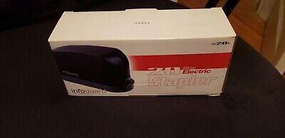 Infoguard 20 Sheet Electric Stapler Es20h Wstaples 4 Aa Batteries