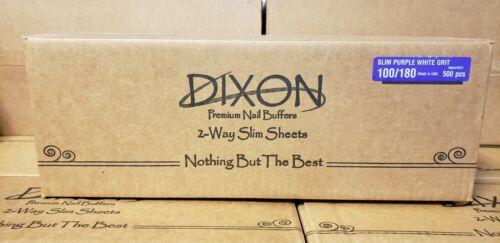 500pc Nail Buffers - Dixon Slim Purple Buffer White Grit 100/180