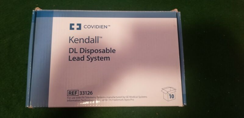 Covidien Kendall # 33126 DL Disposable Chest Leads (Case of 10) NOS - GE FH Tele