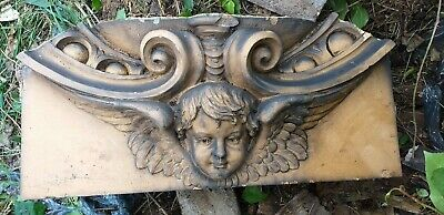 1908 Architectural Salvage,Carved Cherub from a Demolished Staffordshire school