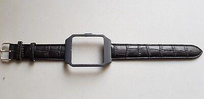 Sony SmartWatch 3 SWR50  DARK GREY Housing  & Black  Leather Strap