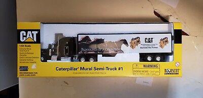 NORSCOT CAT 1:64 CAMION AUTOARTICOLATO CATERPILLAR MURAL SEMI TRUCK 55079