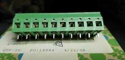 Phoenix Contact 1780507 10 Pc Terminal Block 4a Kds4 .393ls Screw Pcb