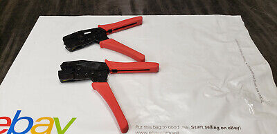2-pc Ratcheting Hand Crimp Crimping Tool With 99mc34 Jaw Die Set