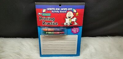 Peanuts Printing Practice Write-On Wipe-Off Activity Board