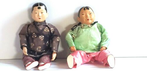 Vintage MICALE MICHAEL LEE MEI MEI Doll and Unmarked Asian Doll Lot of 2