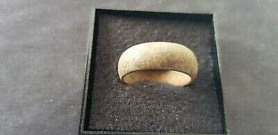 Rare European hoard artefact  Medieval copper ring A must read description L114x